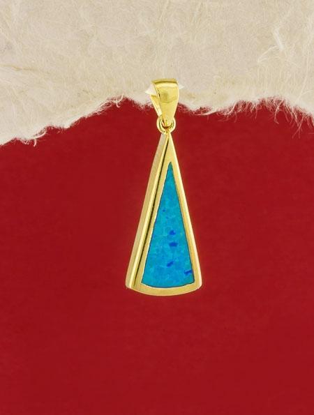 Сребърен медальон със златно родиево покритие - P-TOPM-0118.GB