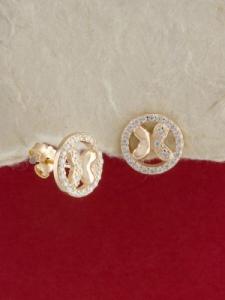 Сребърни обици с розово родиево покритие - E-ASS925-0025.R