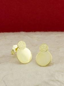 Сребърни обици със златно родиево покритие - E-ASS925-0030.G