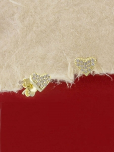 Сребърни обици със златно родиево покритие - E-ASS925-0061.G