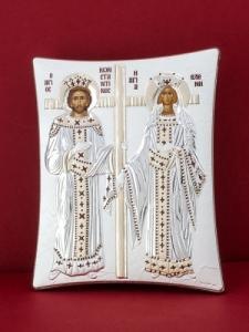 Сребърна икона - Св. Св. Константин и Елена - 112TBR1FWC