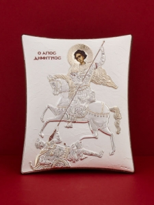 Сребърна икона - Св. Димитър - 114TBR1FWC