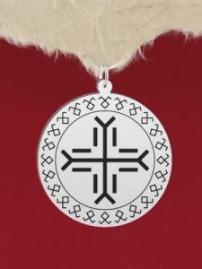 Сребърен медальон - GR40