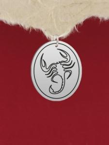 Сребърен медальон - Скорпион -  GR50