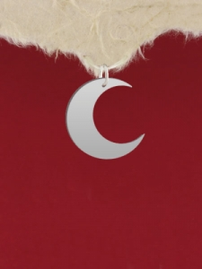Сребърен медальон за гравиране - Луна - GR65