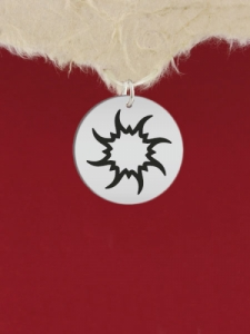 Сребърен медальон - Слънце - GR67
