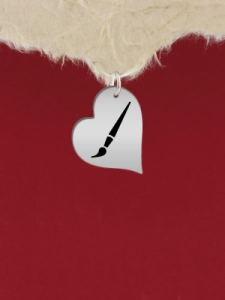 Сребърен медальон - Сърце - GR73