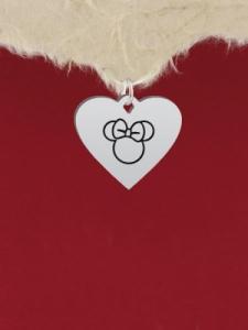 Сребърен медальон - Мини Маус - GR88