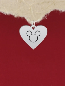 Сребърен медальон - Мики Маус - GR89