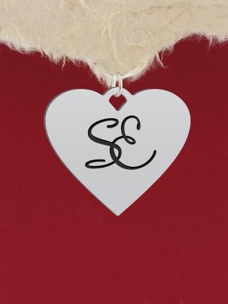 Сребърен медальон - Сърце - GR113