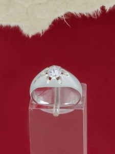 Сребърен пръстен с циркон - R472