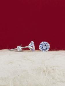 Сребърни минималистични обеци - E002TCL - 7мм
