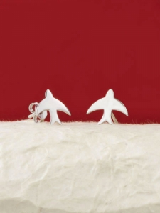 Сребърни минималистични обеци - E005T