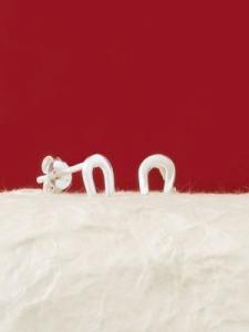 Сребърни минималистични обеци - E009T