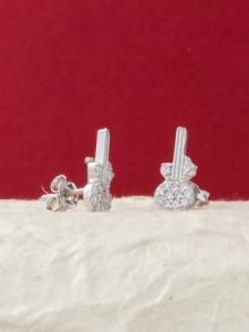 Сребърни минималистични обеци - E012T