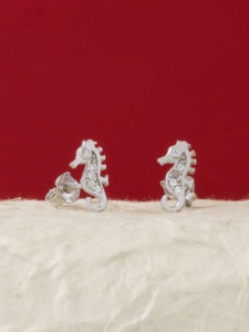 Сребърни минималистични обеци - E014T
