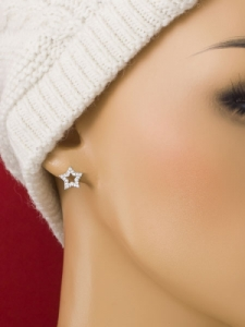 Сребърни минималистични обеци - E015T