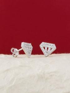 Сребърни минималистични обеци - E016T