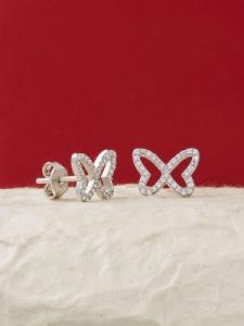 Сребърни минималистични обеци - E018T