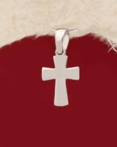 Сребърен медальон кръст - P415
