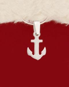 Сребърен медальон котва - P417