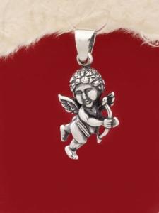Сребърен медальон Купидон - P421