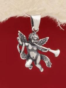 Сребърен медальон Ангелче - P422