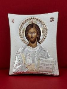 Сребърна икона - Исус Христос - 110TBR1FWD