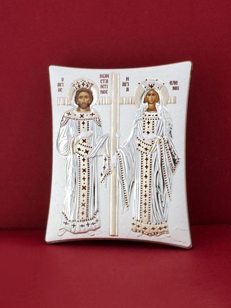 Сребърна икона - Св. Св. Константин и Елена - 112TBR1FWB