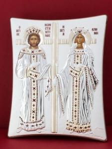 Сребърна икона - Св. Св. Константин и Елена - 112TBR1FWE