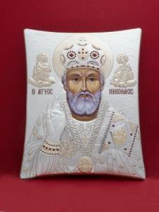 Сребърна икона на  Св. Николай Чудотворец - 113TBR1FWD