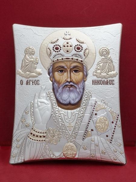 Сребърна икона на  Св. Николай Чудотворец - 113TBR1FWE