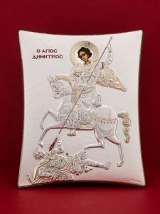 Сребърна икона - Св. Димитър - 114TBR1FWD