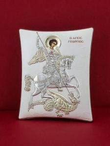 Сребърна икона - Св. Георги - 115TBR1FWC