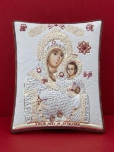 Сребърна икона Св. Богородица Витлеемска - 120TBR1FWD