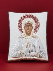 Сребърна икона на Св. Матрона Московска - 126TBR1FWC