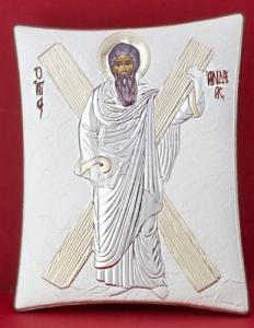 Сребърна икона - Св. Андрей - 140TBR1FWC