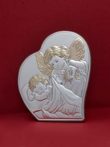 Сребърна икона - Ангел Пазител - 302HBR1FWA