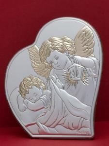 Сребърна икона - Ангел Пазител - 302HBR1FWC