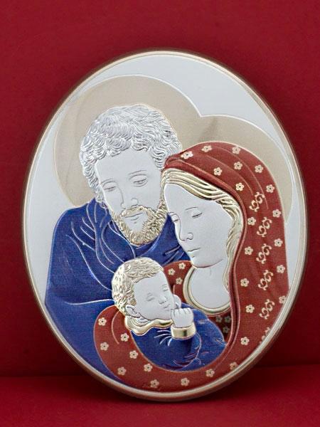 Икона от сребро Светото Семейство - 303OBR1FWD