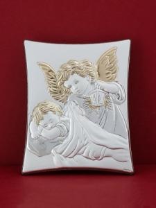Сребърна икона - Ангел Пазител - 302TBR1FWC