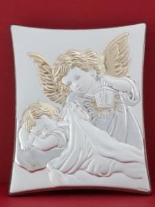 Сребърна икона - Ангел Пазител - 302TBR1FWD