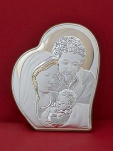 Икона от сребро Светото Семейство - 303HBR1FWB