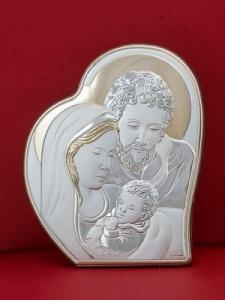 Икона от сребро Светото Семейство - 303HBR1FWC