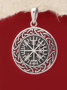"""Сребърен медальон """"Вегвизир"""" - P439"""
