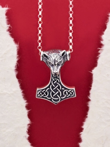 "Сребърен медальон ""Чукът на Тор""- P443"