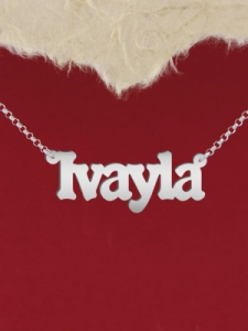 """Колие от сребро с име """"IVAYLA"""""""