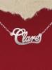 """Колие от сребро с име """"Clare"""""""