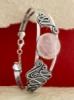Сребърна гривна BK368 - Розов Кварц