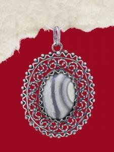 Медальон филигран FP34 - Ивичест Ахат